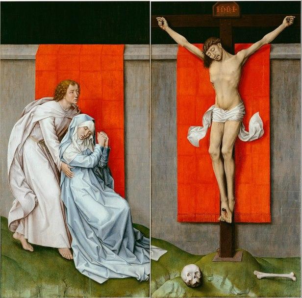 """""""Crucifixion Diptych"""" by Rogier van der Weyden"""
