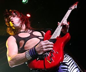 English: Russ Parrish performing with Steel Pa...