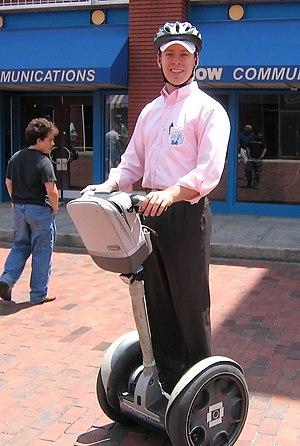 Deutsch: Segway PT-Fahrer in Atlanta.