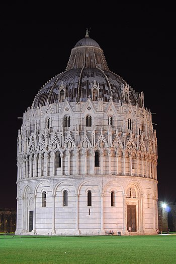English: The Baptistery of the Pisa Cathedral,...