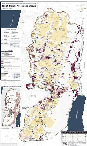 Detailed map of Israeli settlements