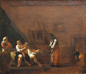 Scene in a brothel by Andries Both