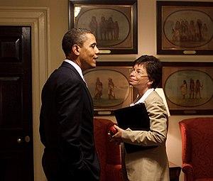 President Barack Obama and Senior Advisor Vale...