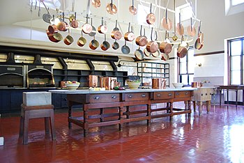 English: Kitchen at The Breakers in Newport, R...