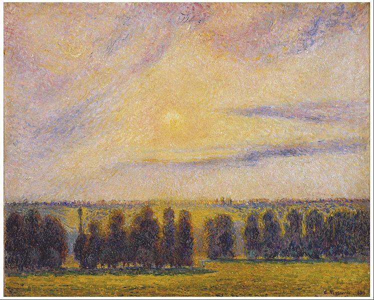 Pissarro, Sunset at Eragny, 1890