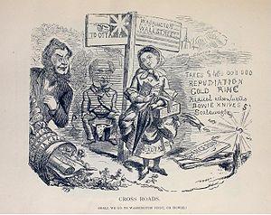 Political Cartoon attacking the Anti-Confedera...