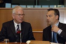 Orbán and Hans-Gert Pöttering in 2006.