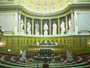 French Senate amphitheater.