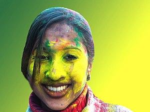 Girl at Holi Phagwa