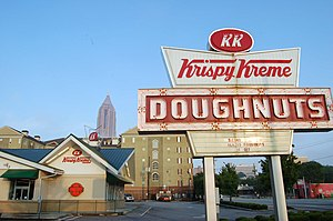 A Krispy Kreme store in Atlanta, Georgia with ...