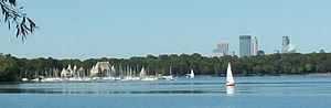 English: Lake Harriet and Minneapolis
