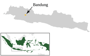 Locator map of Bandung, West Java, Indonesia