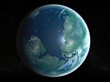 A concepção de um artista da terraformação de Marte.