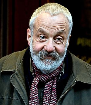 Director Mike Leigh at the red-carpet premiere...
