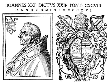 English: 17th-century engraving of Pope John XXII.
