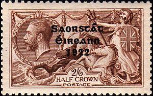 1922 2/6 value King George V stamp overprinted...