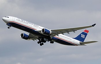 English: US Airways Airbus A330-323X (N278AY),...