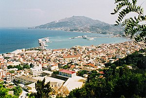 Zakynthos town with the port
