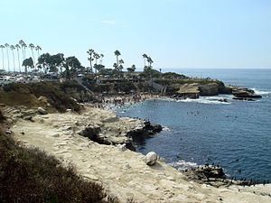 English: La Jolla Cove in La Jolla, San Diego,...