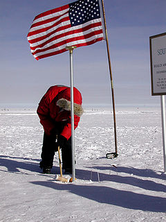 Croquet at South Pole, April 2005
