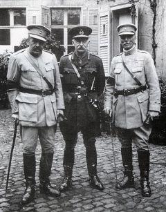 Os Generais Tamagnini, Hacking e Gomes da Costa em 1918.