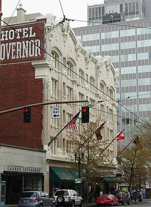 Hotel Governor building in Downtown Portland.