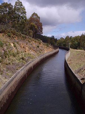 A canal near Bronte lagoon, tasmania Australia...