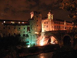 Isola Tiberina Night, Roma, Italy