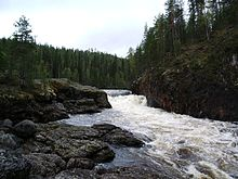 Kiutaköngäs Wasserfall