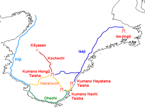 Map of Kumano Kodo