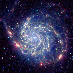 Messier 101 (captured by the Spitzer Space Tel...