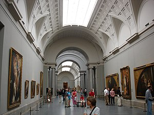 English: Interior of the Prado Museum (Madrid,...