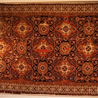 Ottoman Small Pattern Holbein Knotted Carpet - 16th Century