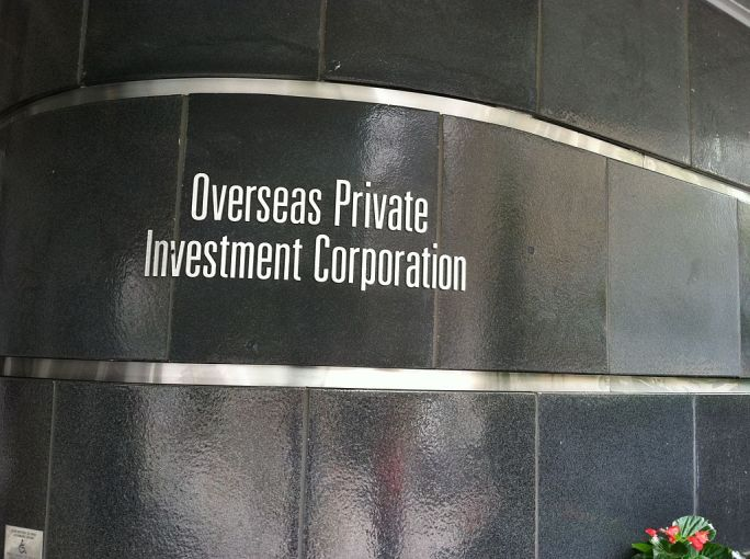 Overseas Private Investment Corporation headquarters plaque