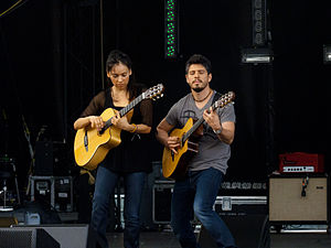 Rodrigo y Gabriela performing at Sasquatch 2011