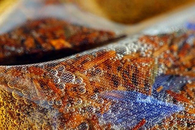 Rooibos tisane tea bag close up