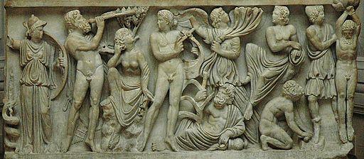 Sarcophagus Apollo Marsyas Louvre Ma2347