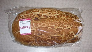 English: A loaf of tiger bread. Photograph tak...