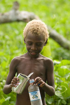 Blond Vanuatu boy