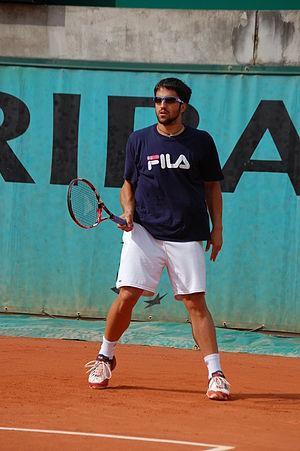 Janko Tipsarevic training in Roland Garros 2009