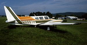 Piper PA-40 Arapaho in 1974 in Lock Haven, PA ...