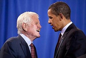 English: President Barack Obama and Senator Te...