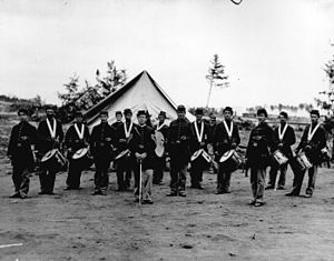 English: Union Regimental Drum Corps from the ...