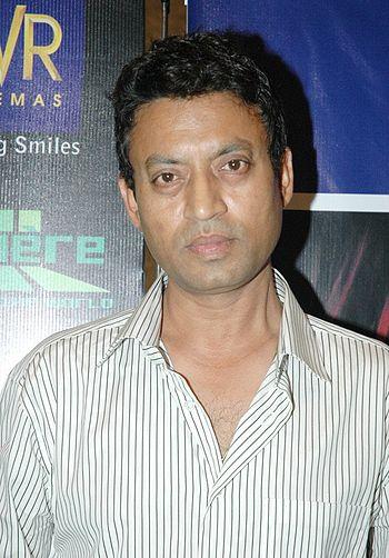 English: Irrfan Khan at the launch of NDTV Lum...