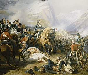 Napoleon at the Battle of Rivoli (January 14, ...