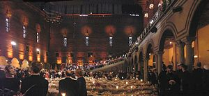 Panoramic shot of the Nobel Prize Banquet 2005...