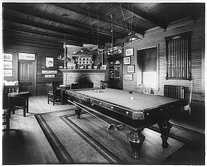 English: Billiard room at Valley Forge Farm