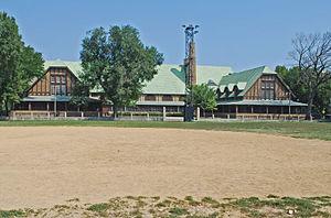 English: Pulaski Park and Fieldhouse, Chicago IL