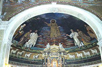 SS. Cosmas and Damian, Roma Mosaik Italiano: R...