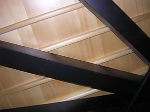 View from below of a 182-cm grand piano. In or...